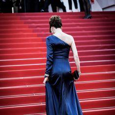 Carla Bruni Sarkozy, ultra glamour en robe fendue bleu nuit