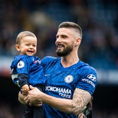 Olivier Giroud partage une photo de lui et son fils à l'Elysée