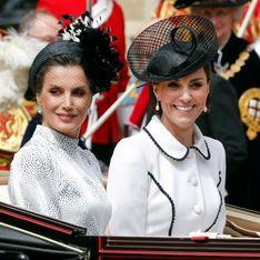 Kate Middleton et Letizia d'Espagne, duo chic et complice en Angleterre
