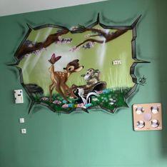 Avec ses fresques, ce graffeur égaie la vie des enfants en service pédiatrique