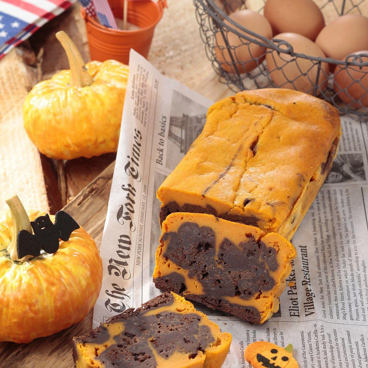 15 minutes pour préparer mon cake choco-potiron pour Halloween