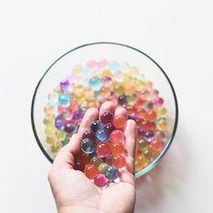 Attention aux perles d'eau décoratives ou ludiques, dangereuses pour les enfants