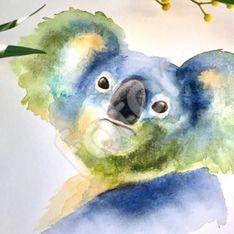 Cette artiste peint avec les cendres des incendies en Australie