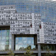 L'artiste JR recouvre l'Opéra Bastille avec 500 portraits de soignants