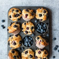 Fruchtig süße Blaubeermuffins: Super einfaches Rezept