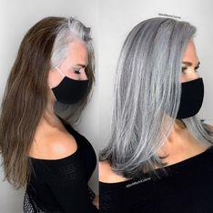 10 superbes transitions capillaires qui célèbrent les cheveux blancs !