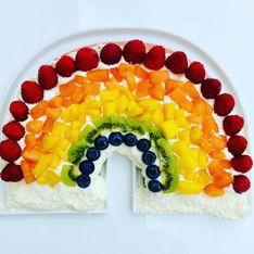 Regenbogenkuchen: Einfaches Rezept mit viel Obst