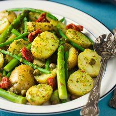 Kartoffelpfanne mit grünem Spargel: Geniales Blitz-Rezept