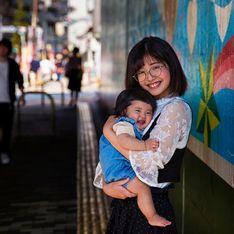 Elle illustre l'amour des mères pour leur enfant dans une série de photos magnifiques
