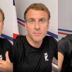 On sait où trouver le mystérieux T-shirt d'Emmanuel Macron