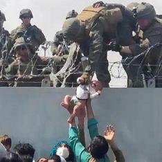 Désespérées, des Afghanes confient leur bébé aux soldats qui quittent Kaboul (Vidéo)