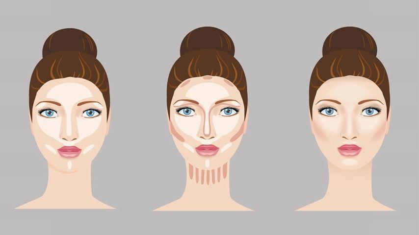 Gesicht schminken schmales Schminken nach