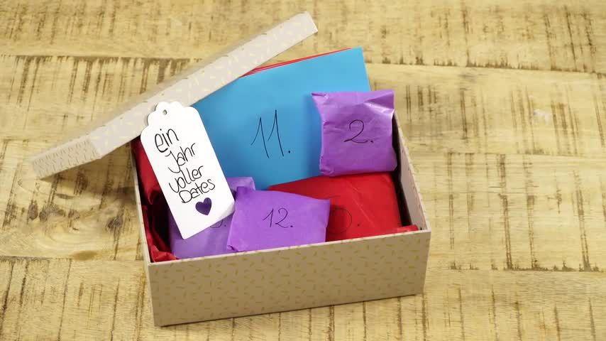 Zum jahrestag diy kleines geschenk Liebevoll: 11